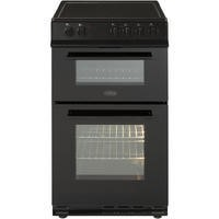 Belling FS50EDOFC 50cm Fan Double Oven Electric Cooker With Ceramic Hob - Black Best Price, Cheapest Prices