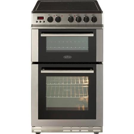 Belling FS50EDOPC Fan Double Oven Electric Cooker With Ceramic Hob Stainless Steel