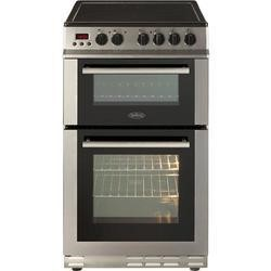 Belling FS50EDOPC Fan Double Oven Electric Cooker With Ceramic Hob Prog Stainless Steel