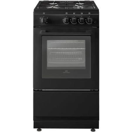 New World 444443994 50cm Wide Gas Single Cavity Cooker Black
