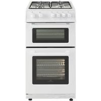 New World 444443995 50cm Wide Gas Double Cavity Cooker White