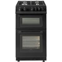 New World 444443996 50cm Wide Gas Double Cavity Cooker Black
