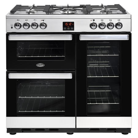 Belling 444444070 Cookcentre 90DFT 90cm Dual Fuel Range Cooker Stainless steel