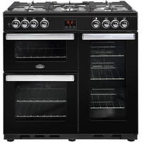 Belling 444444071 Cookcentre 90DFT 90cm Dual Fuel Range Cooker Black
