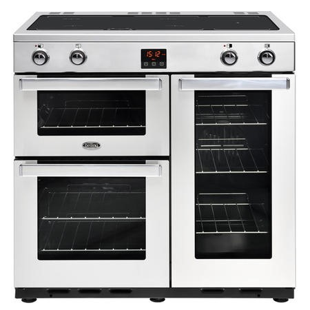 Belling Cookcentre 90Ei Professional 90cm Electric Induction Range Cooker - Stainless steel