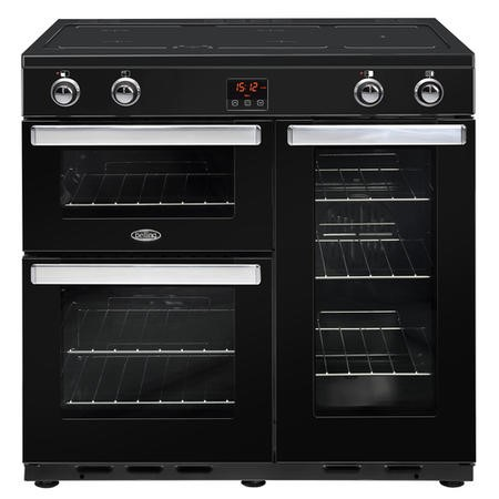 Belling 444444080 Cookcentre 90Ei 90cm Electric Induction Range Cooker Black
