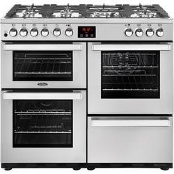Belling 444444081 Cookcentre 100DF Professional 100cm Dual Fuel Range Cooker Stainless steel