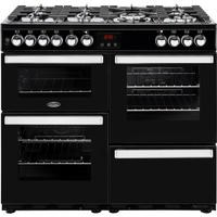 Belling 444444083 Cookcentre 100DF 100cm Dual Fuel Range Cooker Black