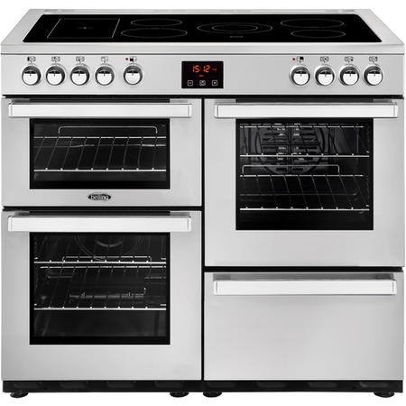 Belling 444444084 Cookcentre 100E Professional 100cm Electric Ceramic Range Cooker Stainless steel