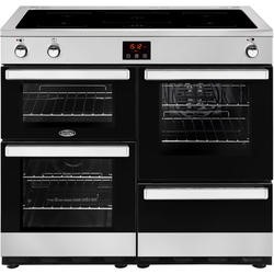 Belling Cookcentre 100Ei 100cm Electric Induction Range Cooker Stainless steel