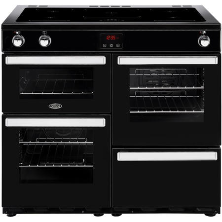 Belling Cookcentre 100Ei 100cm Electric Induction Range Cooker Black