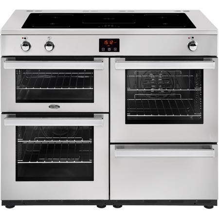 Belling Cookcentre 110Ei Professional 110cm Electric Induction Range Cooker Stainless steel