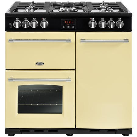 Belling Farmhouse 90DFT 90cm Dual Fuel Range Cooker Cream