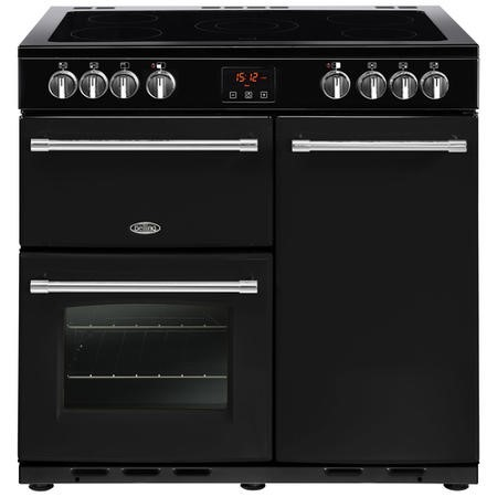 Belling Farmhouse 90E 90cm Electric  Range Cooker With Ceramic Hob Black