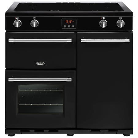 Belling Farmhouse 90Ei 90cm Electric  Range Cooker With Induction Hob Black