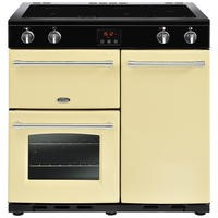 Belling Farmhouse 90Ei 90cm Electric  Range Cooker With Induction Hob Cream