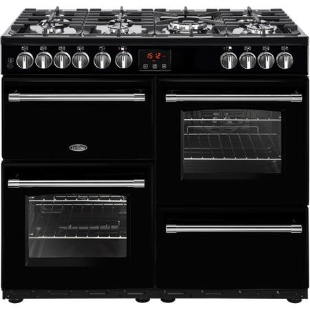 Belling Farmhouse 100DFT 100cm Dual Fuel Range Cooker Black