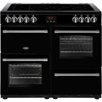 Belling Farmhouse 100E 100cm Electric  Range Cooker With Ceramic Hob Black