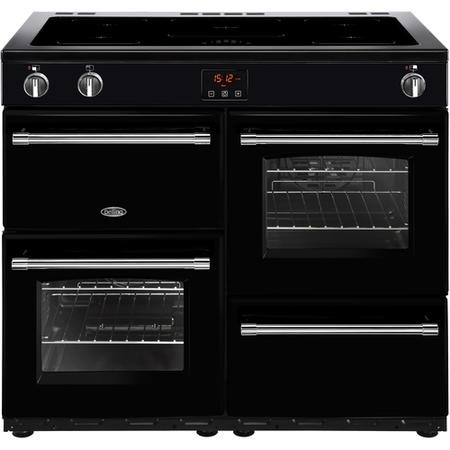Belling Farmhouse 100Ei 100cm Electric  Range Cooker With Induction Hob Black