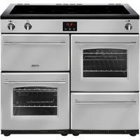 Belling Farmhouse 100Ei 100cm Electric  Range Cooker With Induction Hob Silver
