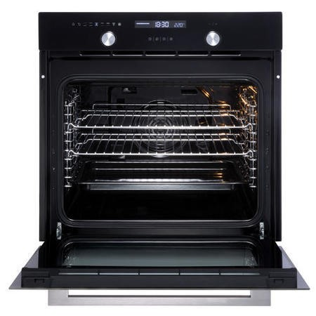 New World 444444186 Design Suite 60MF 9 Function Electric Single Oven Black