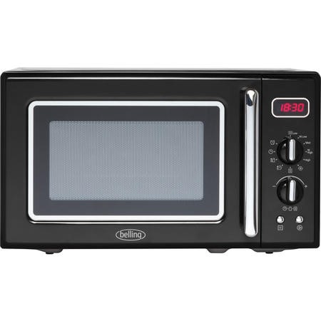 Belling FMR2080S 20L 800W Retro Design Freestanding Microwave in Black