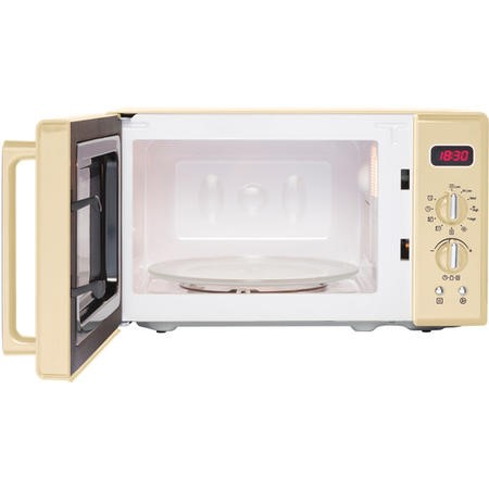 Belling FMR2080S Retro 20 Litre 800W Freestanding Microwave Oven Cream