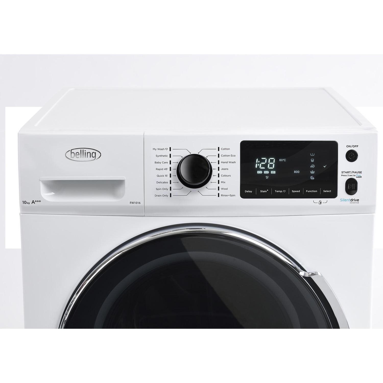 White Belling FW1016 10kg 1600rpm Freestanding Washing Machine
