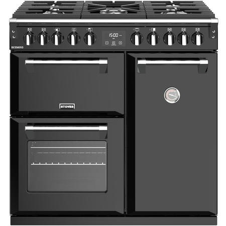 Stoves S900DF Richmond 90cm Dual Fuel Range Cooker - Black