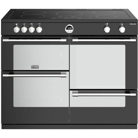 Stoves Sterling  S1100Ei 110cm Electric Range Cooker With Induction Hob - Black
