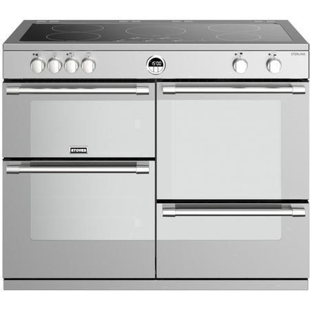 Stoves Sterling  S1100Ei 110cm Electric Range Cooker With Induction Hob - Stainless Steel