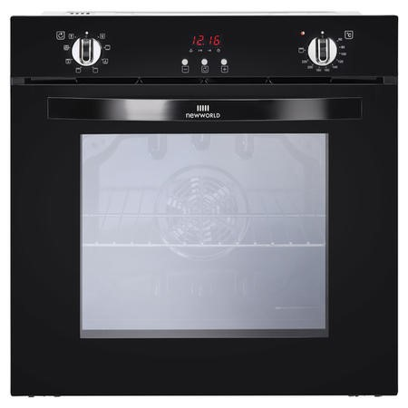 New World NW602MF 73L Multifunction Electric Single Oven With Programmable Timer - Black