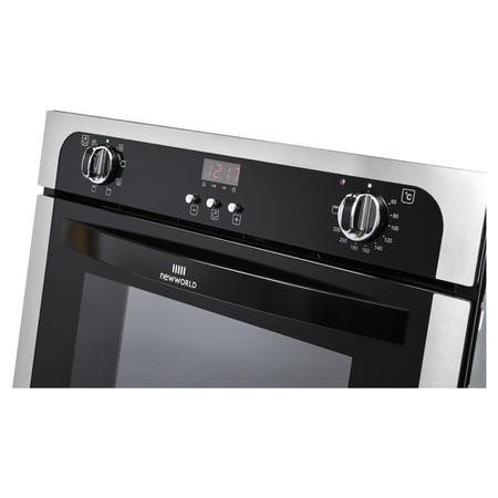 New World NW602MF 73L Multifunction Electric Single Oven With Programmable Timer - Stainless Steel