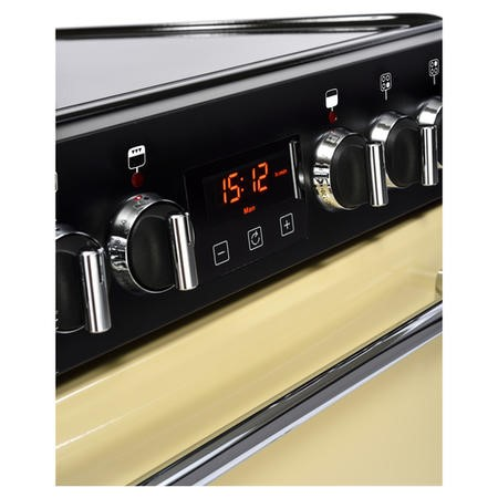 Belling Farmhouse 60E 60cm Double Oven Electric Mini Range Cooker With Ceramic Hob - Cream