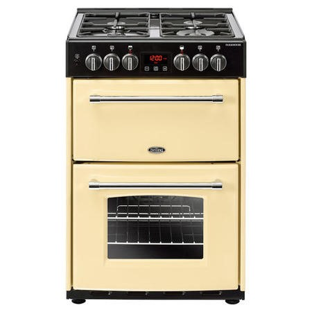 Belling Farmhouse 60cm Double Oven Dual Fuel Mini Range Cooker - Cream