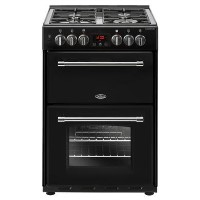 Belling Farmhouse 60cm Double Oven Dual Fuel Mini Range Cooker - Black