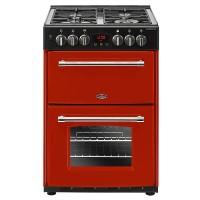 Belling Farmhouse 60cm Double Oven Dual Fuel Mini Range Cooker - Hot Jalapeno