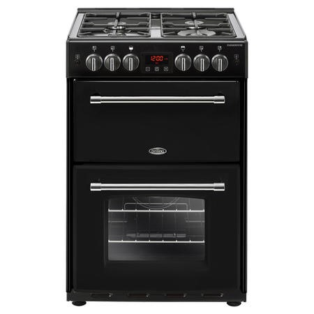 Belling Farmhouse 60G 60cm Double Oven Gas Mini Range Cooker  - Black