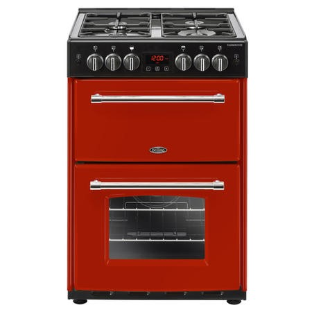 Belling Farmhouse 60G 60cm Double Oven Gas Mini Range Cooker - Hot Jalapeno