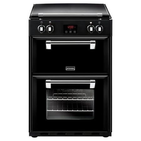 Stoves Richmond 600EI 60cm Double Oven Electric Cooker With Induction Hob And Bluetooth Connectivity - Black