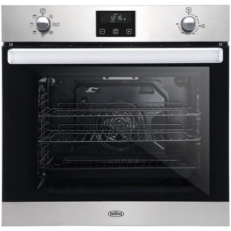 Belling 444444773 BI602FP 73L Built-in Single Fan Oven With Programmable Timer - Stainless Steel