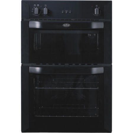 GRADE A1 - Belling 444449591 BI90FP Electric Built In Double Oven - Black