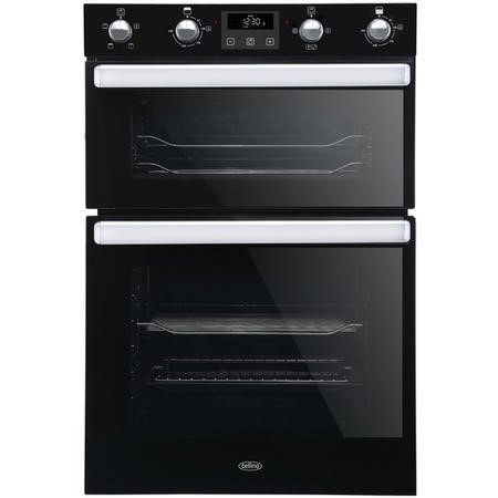 Belling 444444786 BI902FP Electric Built In Double Oven With Programmable Timer - Black