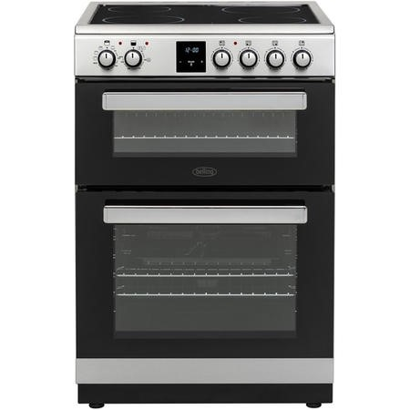 Belling FSE608DPc 60cm Double Oven Electric Cooker With Ceramic Hob - Stainless Steel