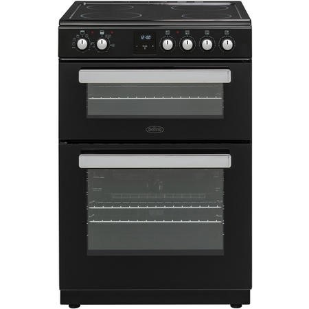 Belling FSE608DPc 60cm Double Oven Electric Cooker With Ceramic Hob - Black