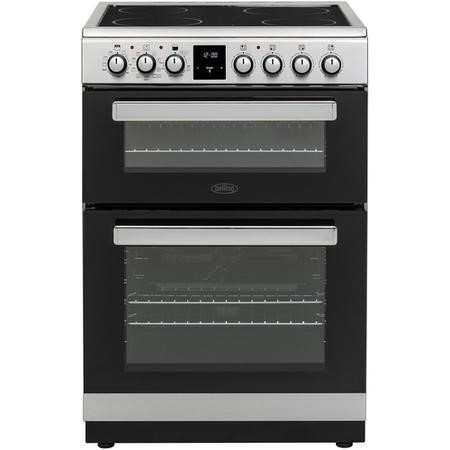 Belling FSE608MFc 60cm Double Oven Multifunction Electric Cooker With Ceramic Hob - Stainless Steel