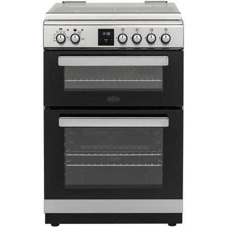 Belling FSDF608Dc 60cm Double Oven Dual Fuel Cooker - Stainless Steel