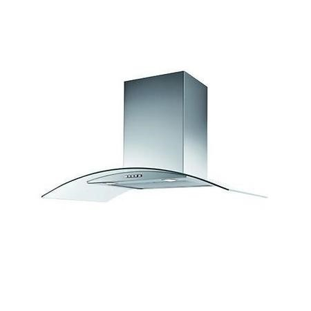 Stoves 600CGH mk2 Stainless Steel Chimney Cooker Hood With Curved Glass Canopy