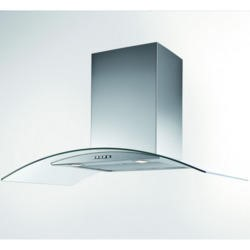 New World 700CGH 70cm Chimney Cooker Hood Stainless Steel With Curved Glass Canopy