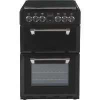 Stoves Richmond 550E 55cm Double Oven Electric Cooker with Ceramic Hob and Lid - Black Best Price, Cheapest Prices